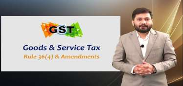 GST Updates: Rules 36(4) restriction on availment